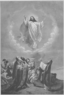 picture of jesus ascending to heaven jesus ascension coloring page sketch coloring page of to jesus heaven picture ascending