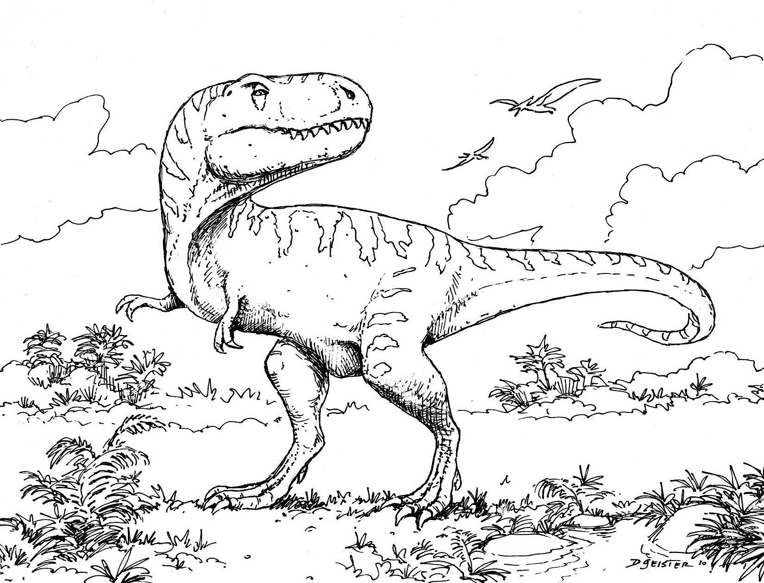 pictures of dinosaurs to print free printable dinosaur coloring pages for kids to pictures print of dinosaurs 1 1