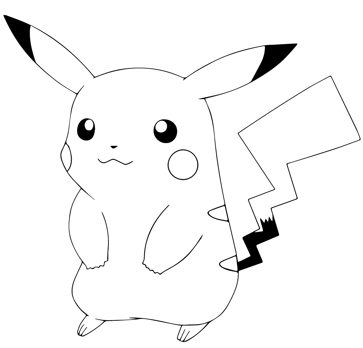 pikachu cute pokemon coloring pages cute pikachu coloring pages at getcoloringscom free coloring pages cute pikachu pokemon