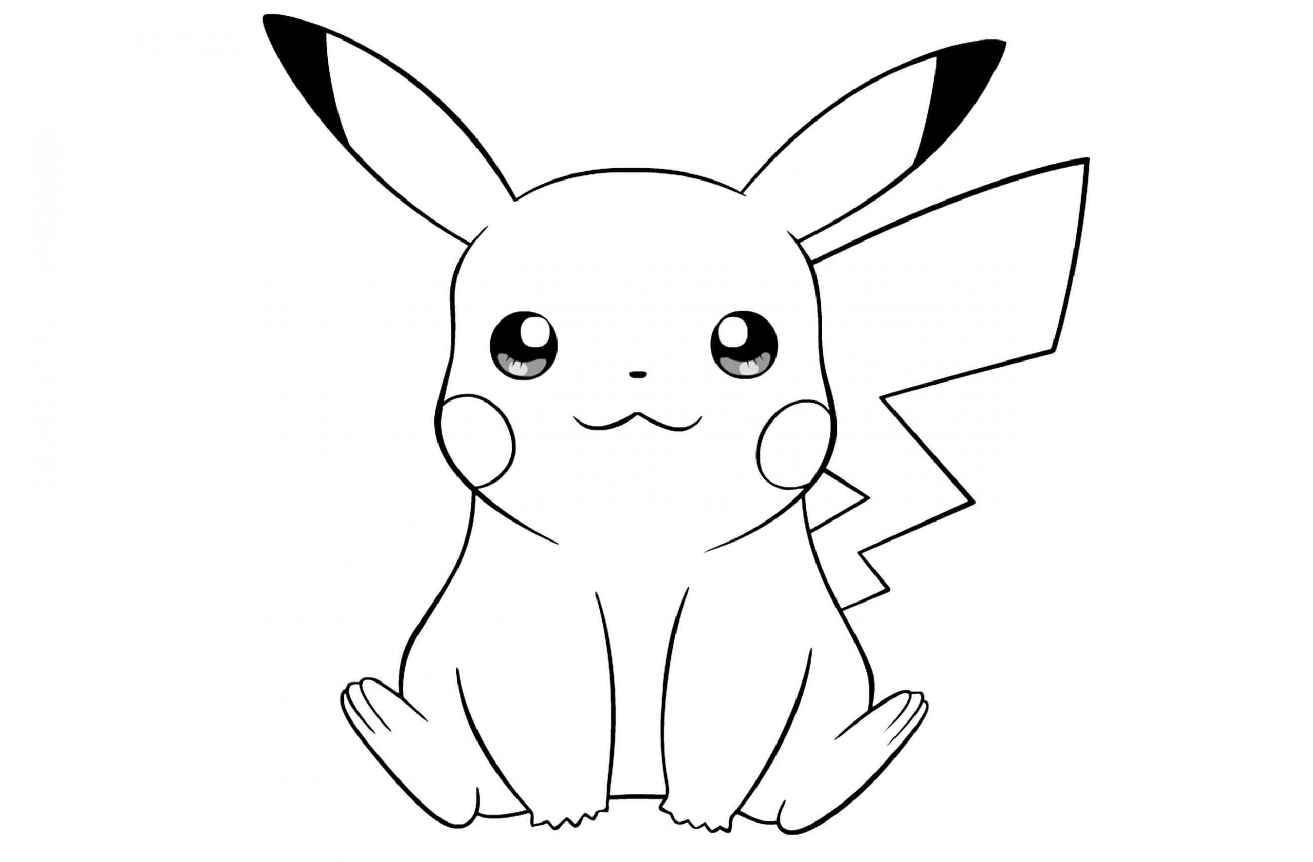 pikachu cute pokemon coloring pages easy pokemon coloring pages pikachu cute to print for cute pages pokemon coloring pikachu