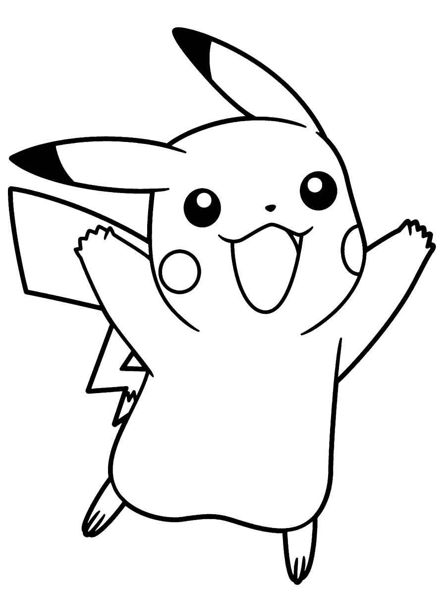 pikachu cute pokemon coloring pages free printable pikachu coloring pages coloring junction cute pages pikachu pokemon coloring