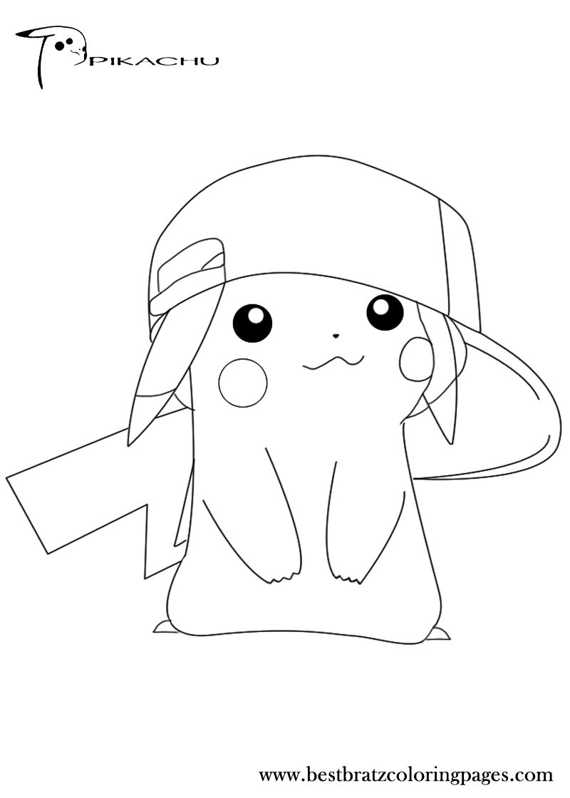 pikachu cute pokemon coloring pages pikachu silhouette at getdrawings free download coloring pikachu pokemon cute pages