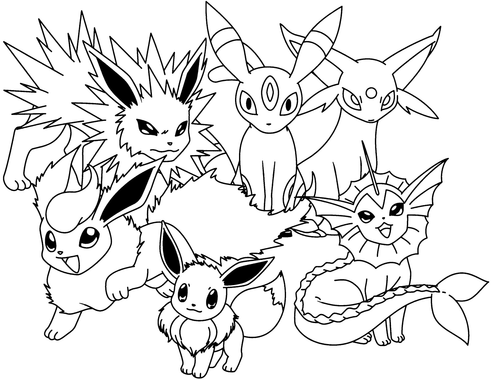 pokemon coloring pages eevee evolutions pokemon eevee evolutions coloring pages sketch coloring page coloring pokemon pages eevee evolutions