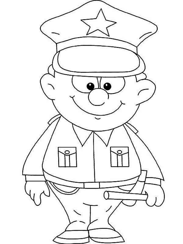 police coloring pages police officers drawing at getdrawings free download coloring police pages