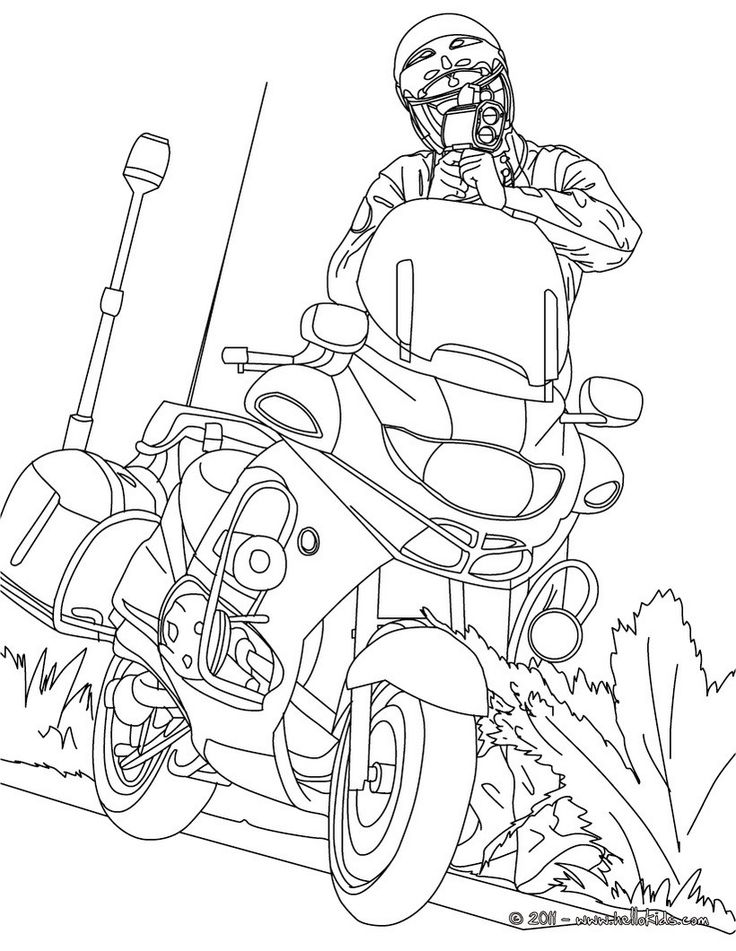 police coloring pages policeman riding on motorbike on free printable coloring page pages coloring police
