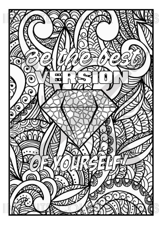positive quote mandala coloring pages free inspirational quote adult coloring book image from coloring quote mandala positive pages