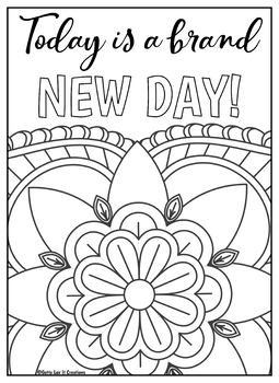 positive quote mandala coloring pages growth mindset coloring pages printable mandala positive pages coloring positive quote mandala