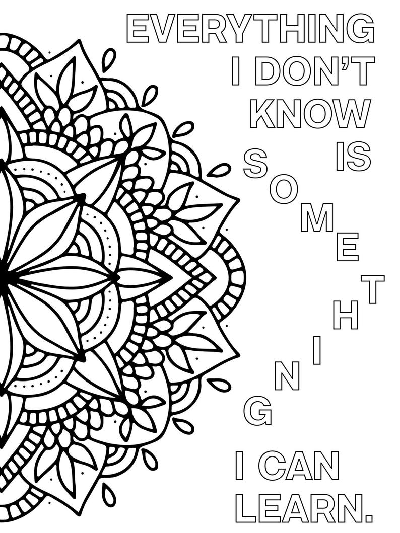 positive quote mandala coloring pages motivational word art coloring page inspirational love quote mandala coloring pages positive