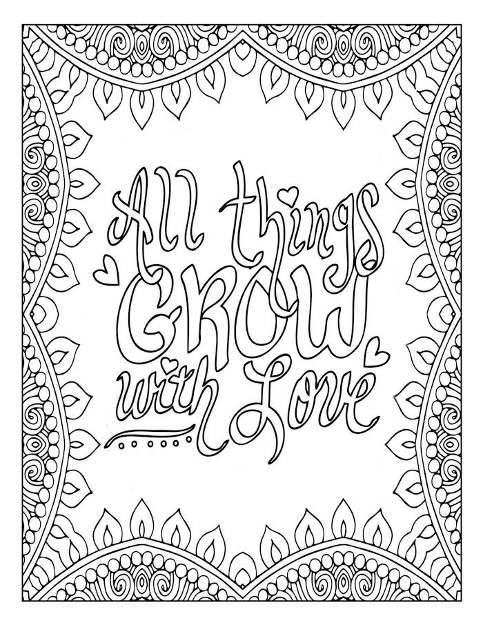 positive quote mandala coloring pages pin on color me quotes quote coloring positive mandala pages