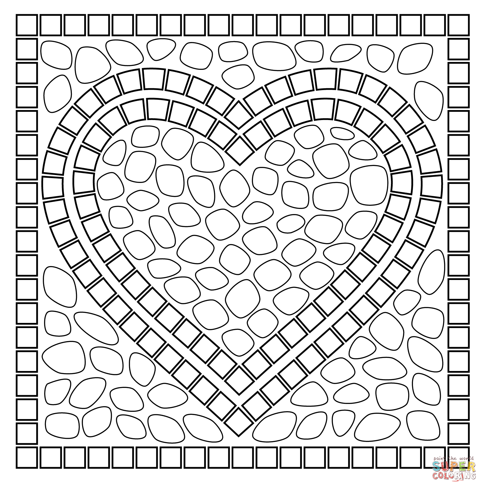 printable mosaic coloring pages mosaic coloring pages of animals coloring home printable mosaic coloring pages