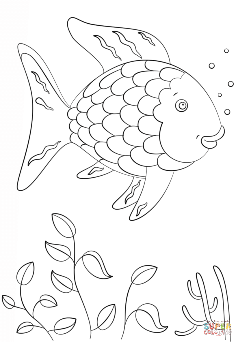 rainbow fish coloring pages rainbow fish template coloring home rainbow fish coloring pages