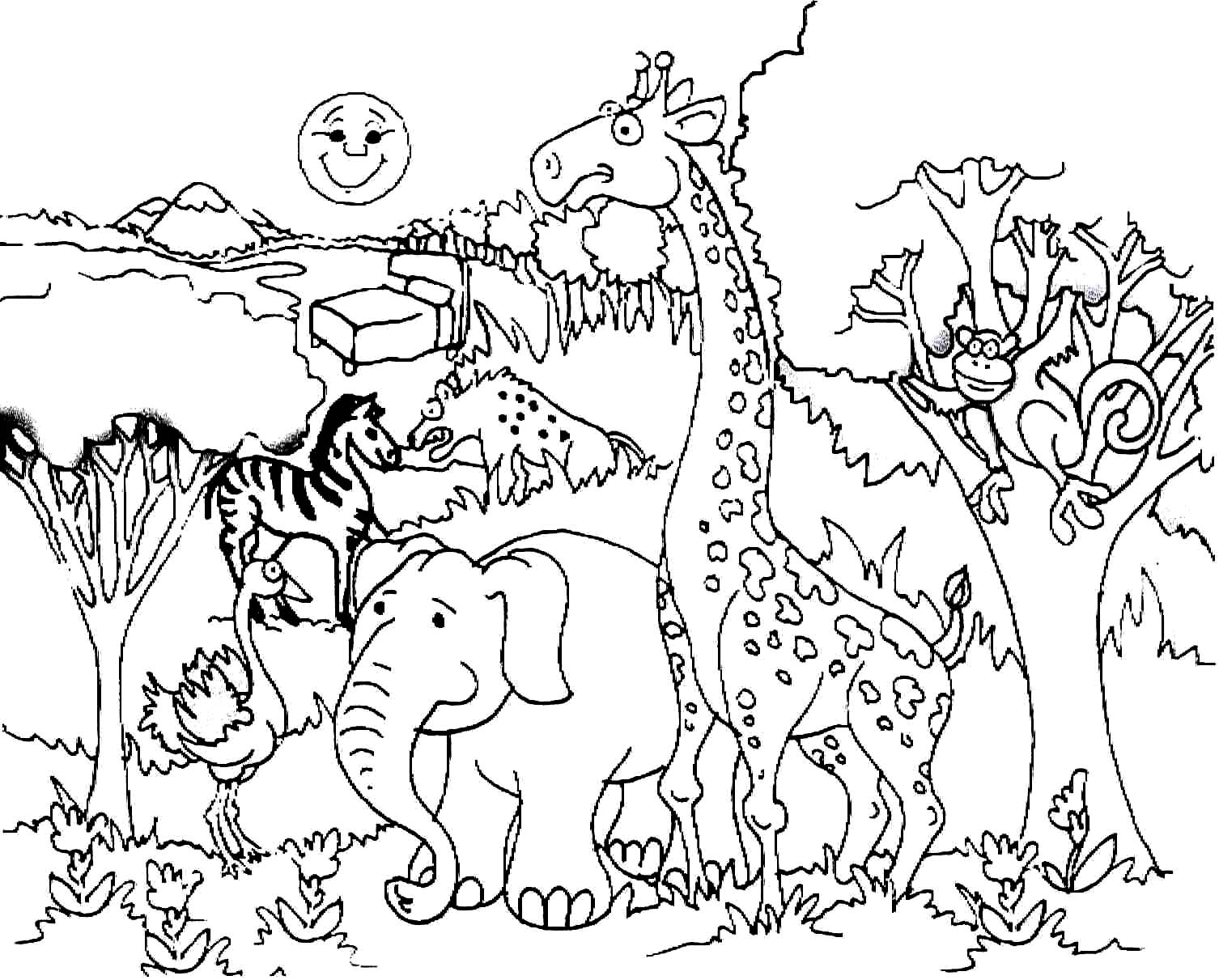rainforest animal coloring pages amazon rainforest drawing at getdrawings free download coloring animal rainforest pages