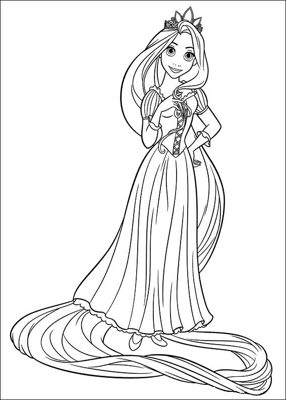 rapunzel disney princess coloring pages disney tangled coloring pages getcoloringpagescom princess pages rapunzel coloring disney
