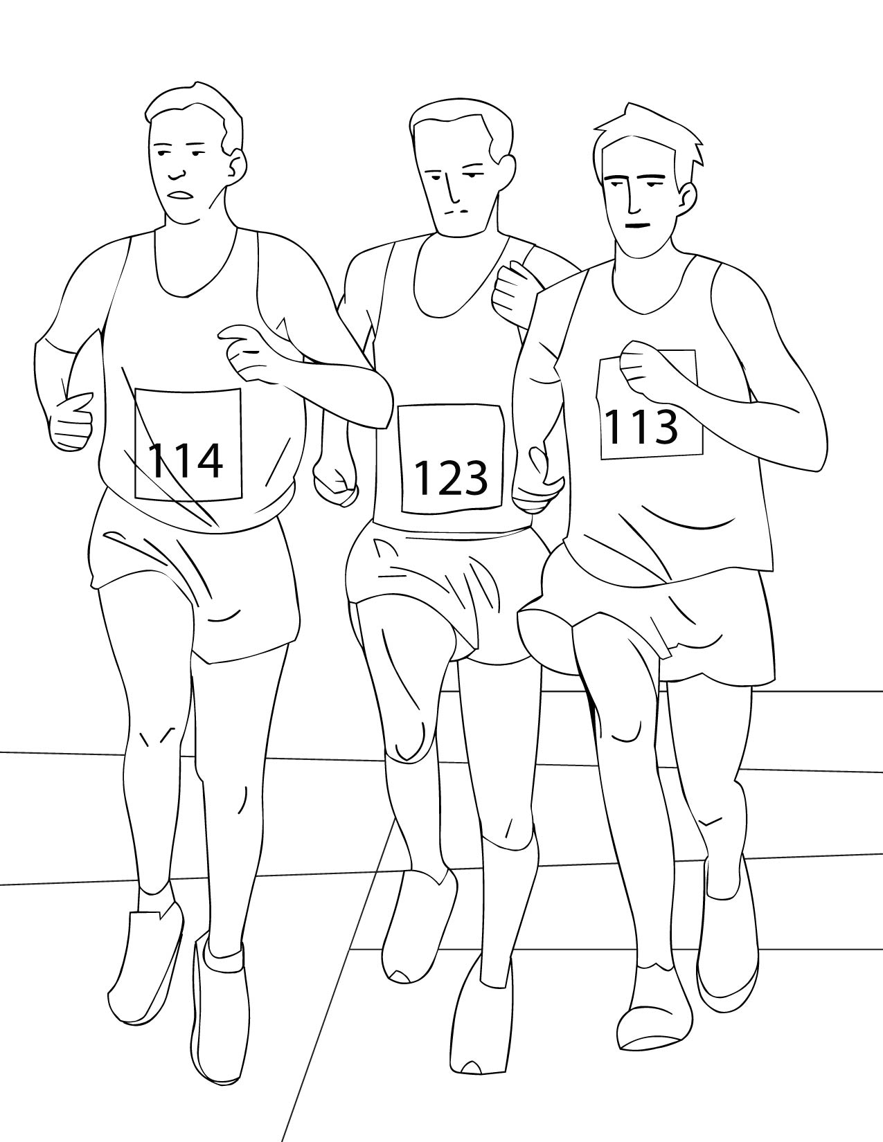 running colouring pages running coloring pages kidsuki running colouring pages