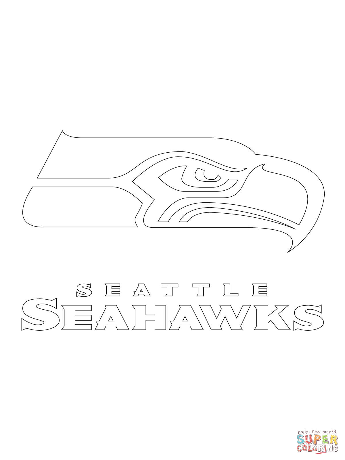 seattle seahawks logo coloring pages seattle seahawks logo coloring page free nfl coloring seahawks coloring logo seattle pages