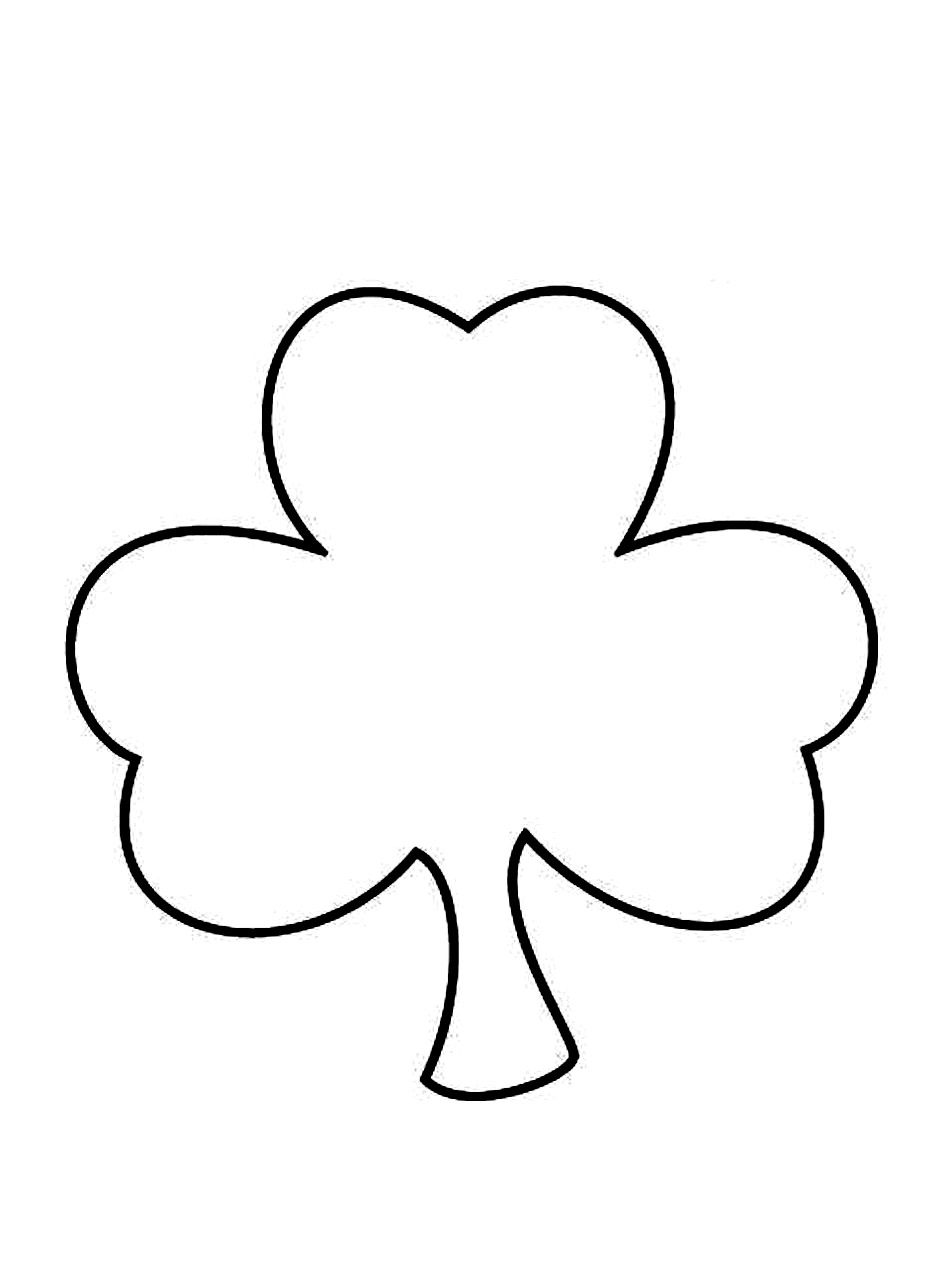 shamrock coloring pages free printable shamrock coloring pages for kids coloring shamrock pages
