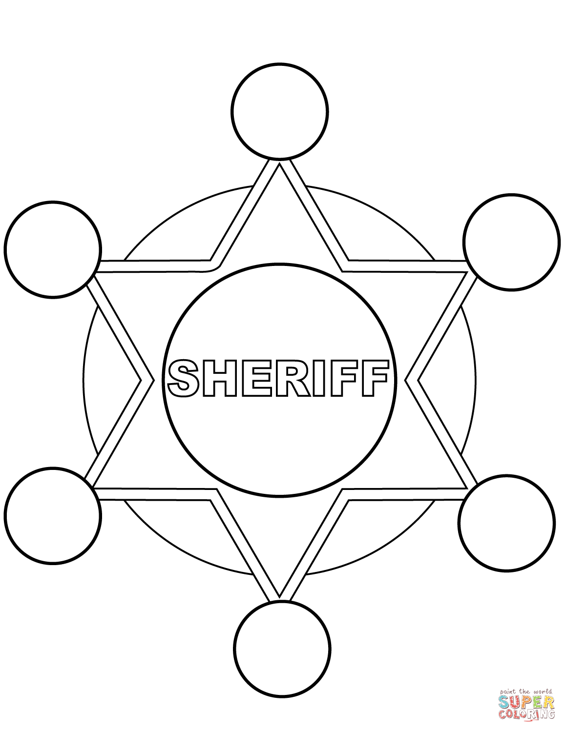 sheriff star coloring page sheriff star coloring page coloring home star page coloring sheriff