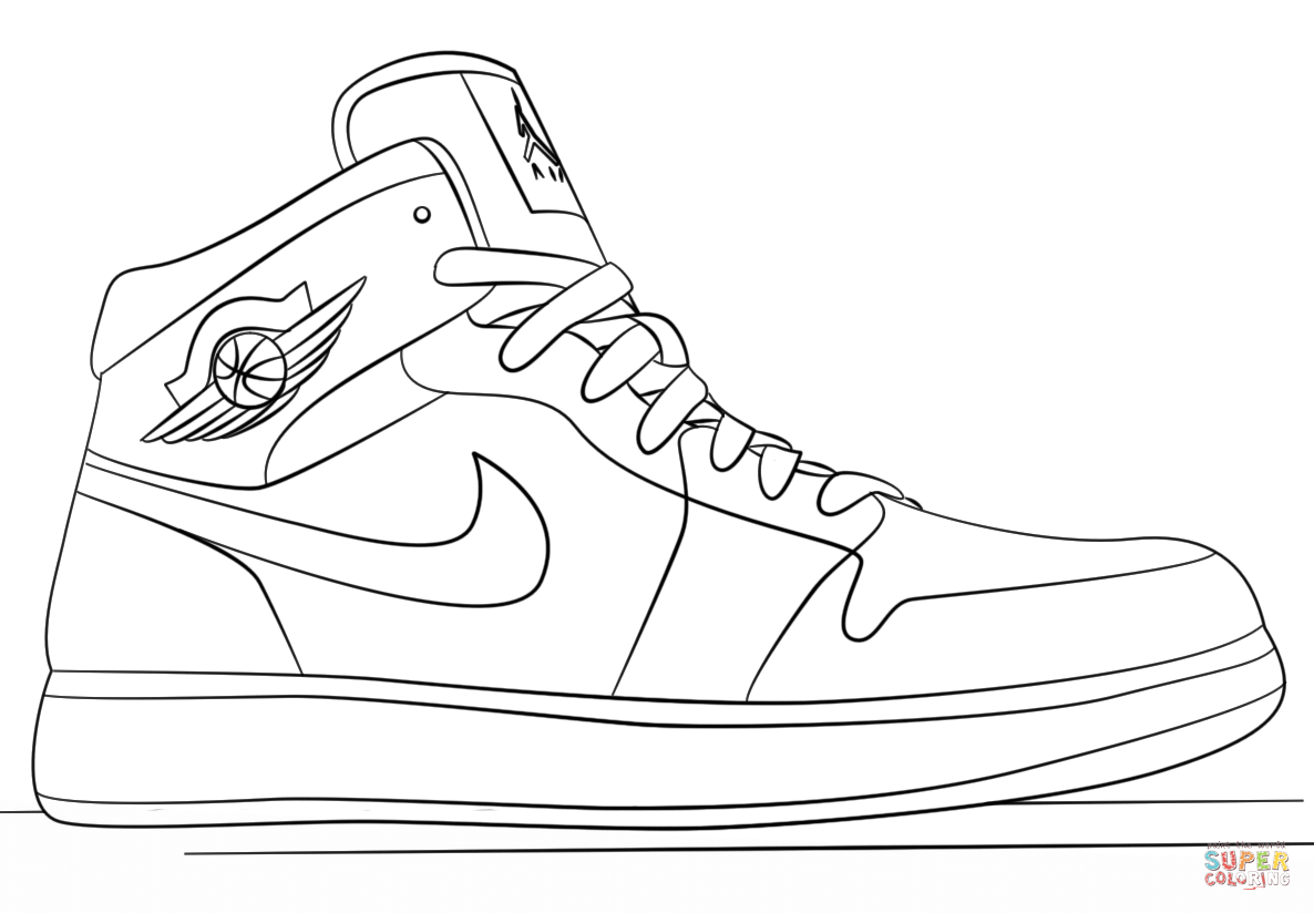 shoe coloring page jordan shoes coloring pages coloring home coloring shoe page