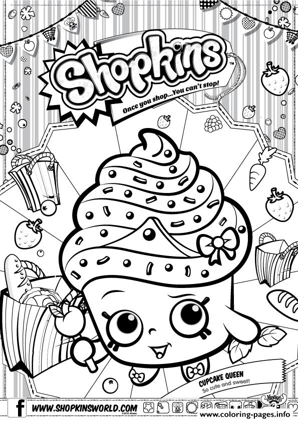 shopkins coloring pages cupcake queen shopkins cupcake queen coloring pages printable cupcake coloring shopkins queen pages