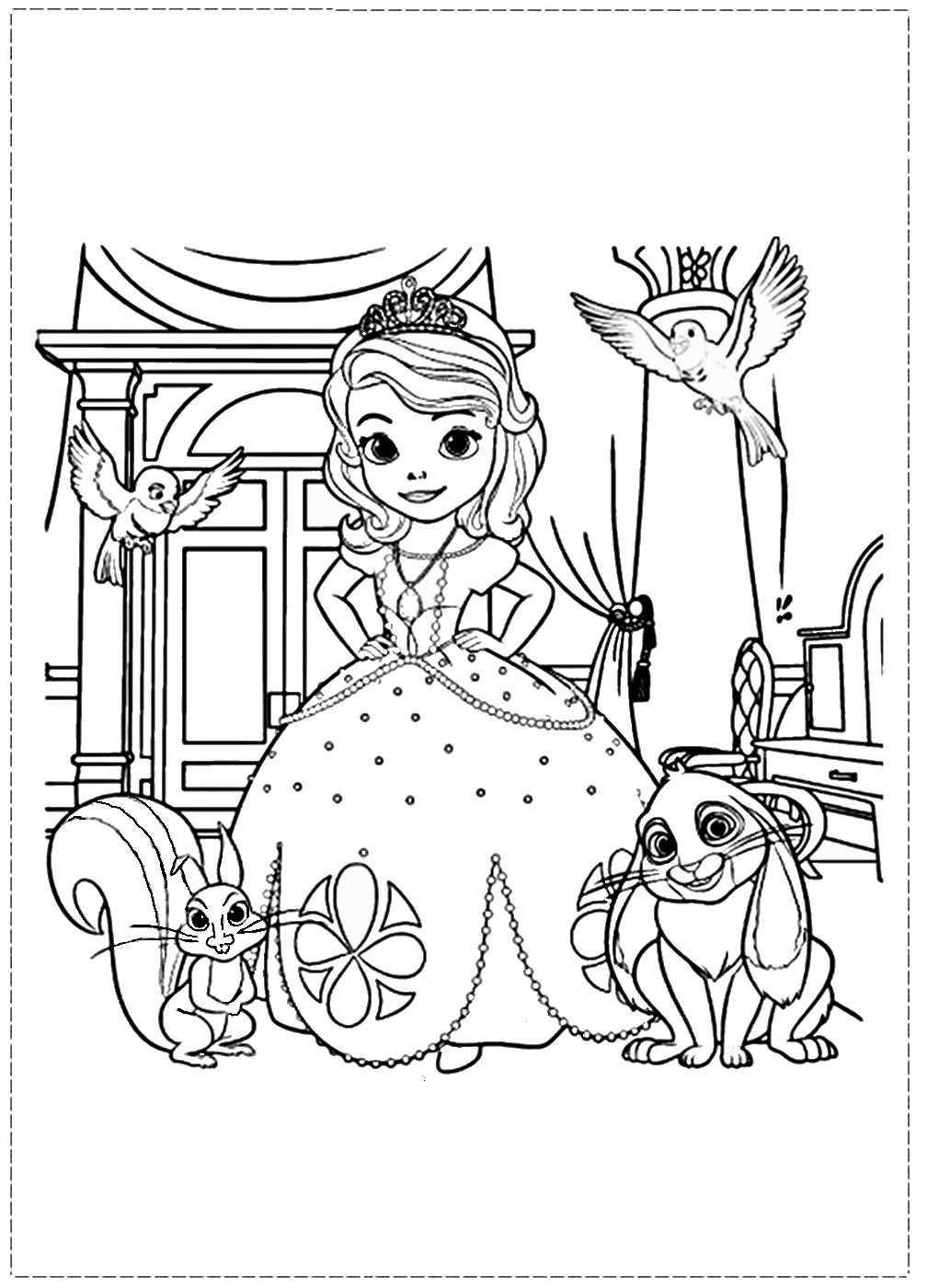 sofia the first coloring book sofia the first coloring pages the coloring sofia book first