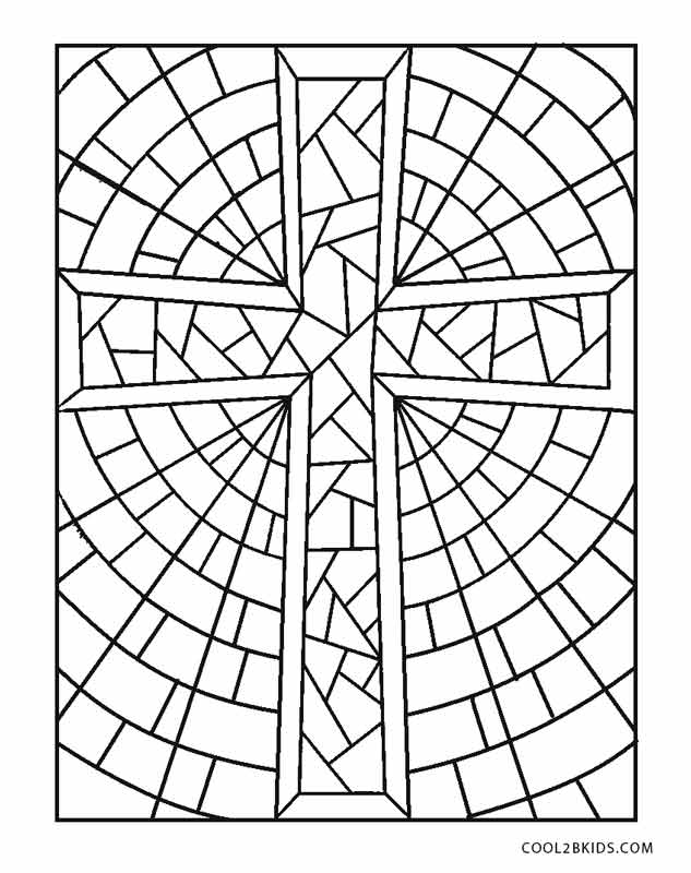 stained glass cross coloring page free printable cross coloring pages for kids cool2bkids coloring page stained cross glass