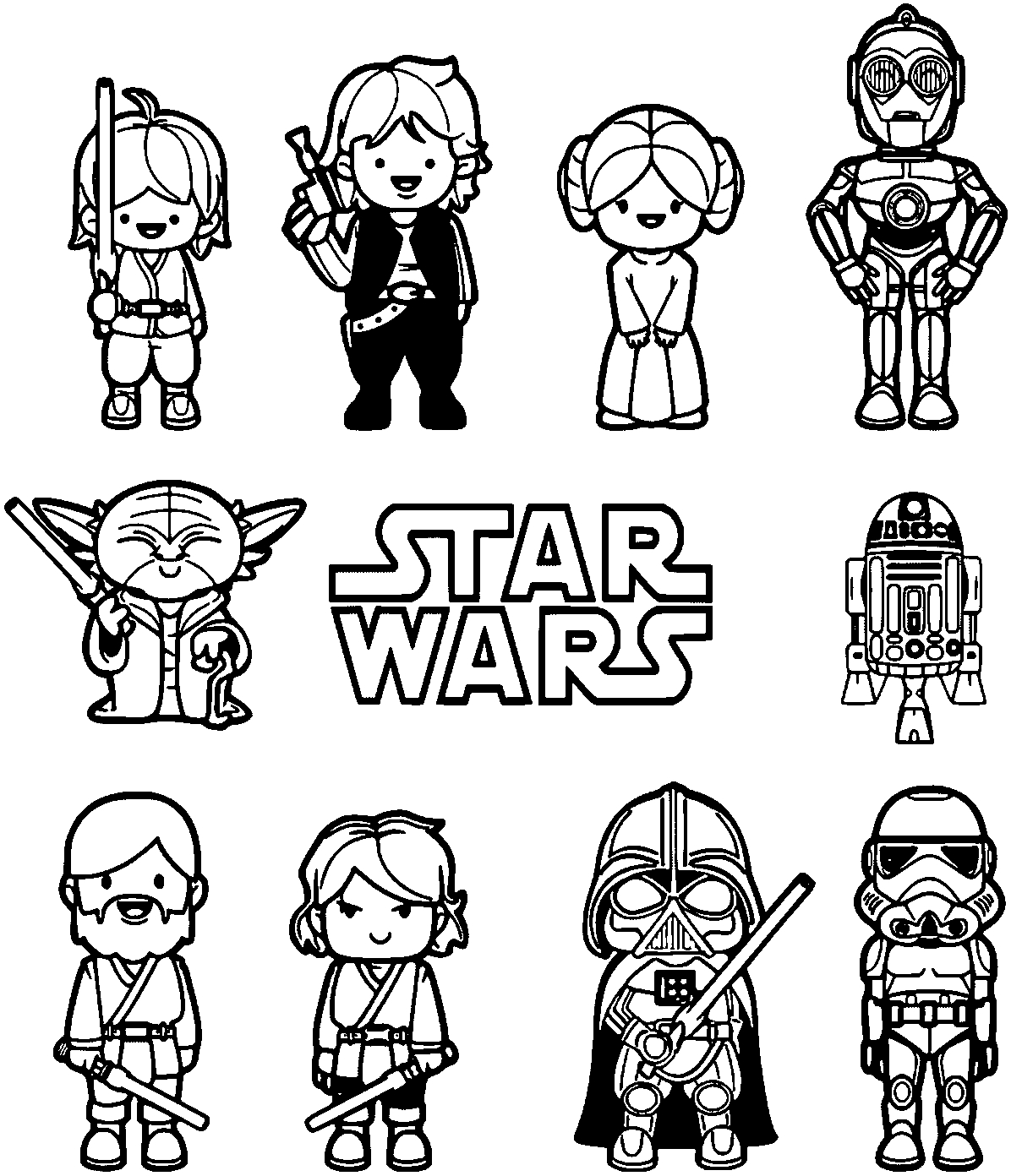 star wars characters coloring pages free printable star wars coloring pages free printable coloring characters wars star pages
