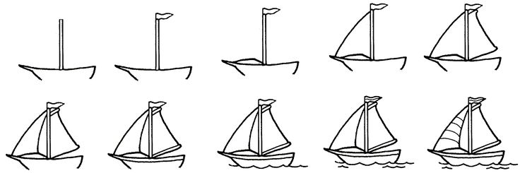 step by step how to draw a boat drawing boat to a step how by draw step boat