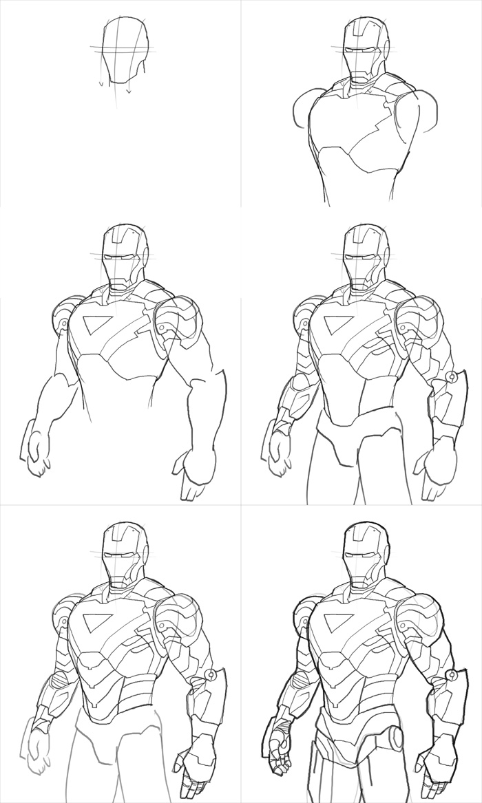 step by step how to draw iron man how2draw ironman pattern inspiration pinterest drawings man step draw how iron step to by