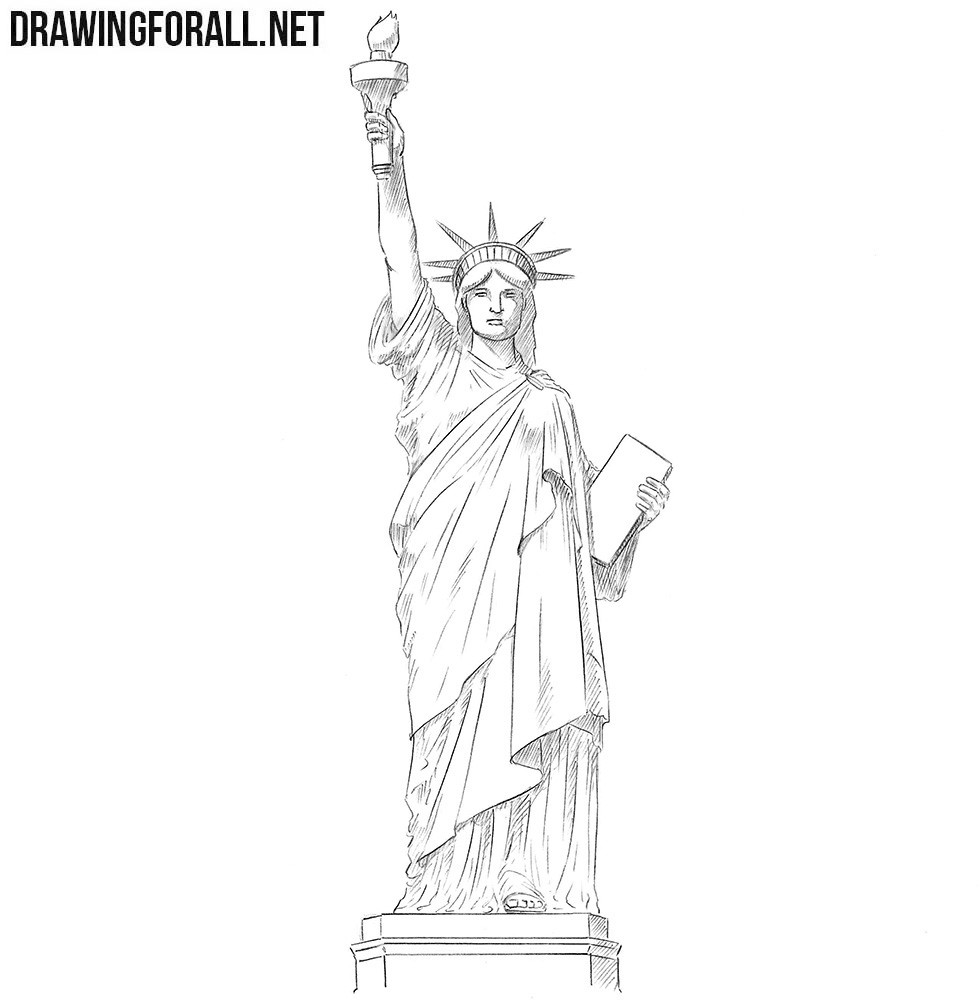 step by step how to draw the statue of liberty learn how to draw statue of liberty statues step by step by the liberty of step step draw to statue how