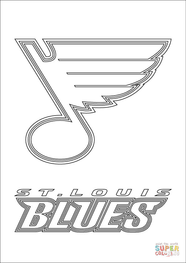stl blues coloring pages wallpapers st louis blues blues pages coloring stl