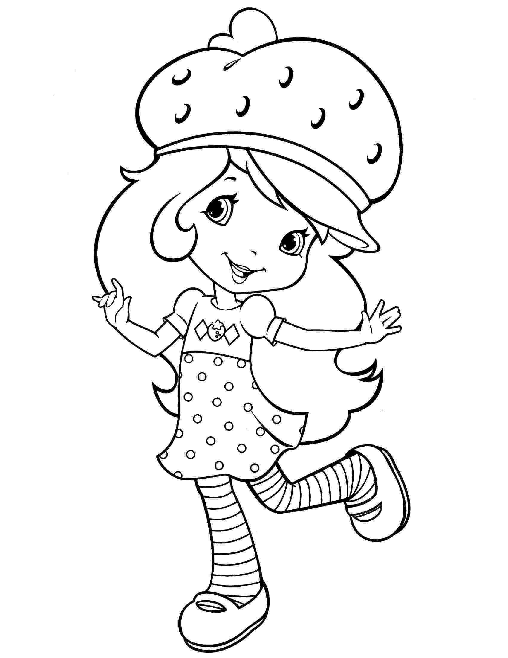 strawberry shortcake coloring pages printable free printable strawberry shortcake coloring pages for kids strawberry shortcake printable coloring pages