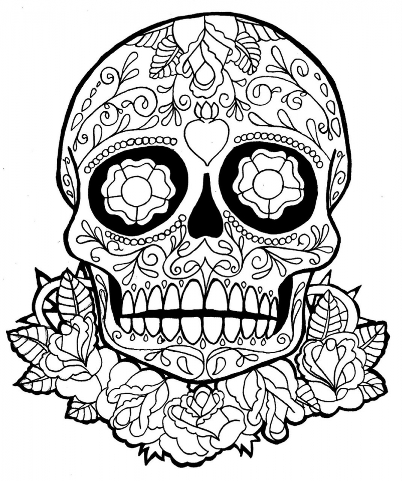 sugar skull coloring pages printable get this sugar skull coloring pages free printable for coloring sugar printable pages skull
