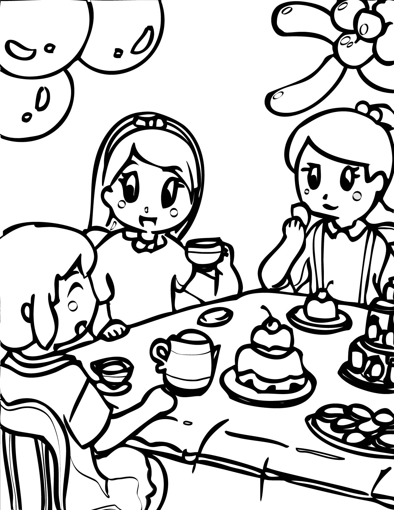 tea party coloring pages tea party coloring pages party tea coloring pages