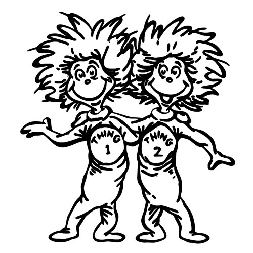 thing 1 and thing 2 coloring pages free printable dr seuss coloring pages for kids pages thing and coloring 2 1 thing