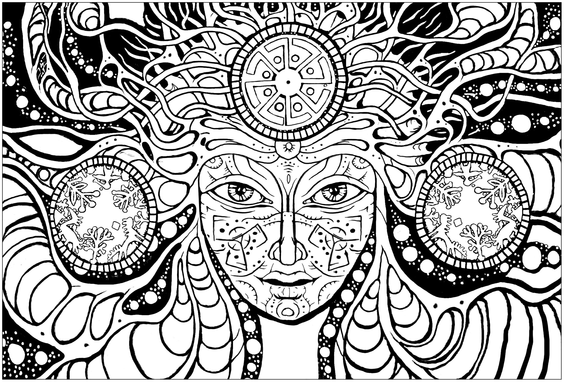 trippy coloring pages psychedelic woman psychedelic adult coloring pages pages coloring trippy