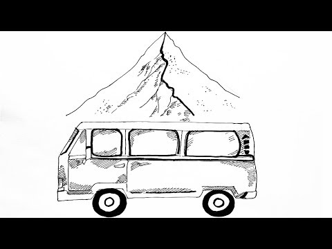 van drawing cartoon my vehicle pronk graphics drawing van