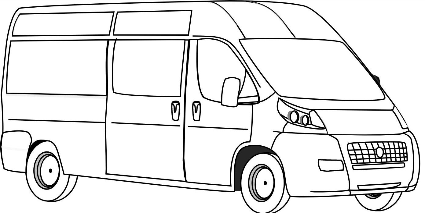 van drawing how to draw van for kids learn drawing a van easy and step van drawing