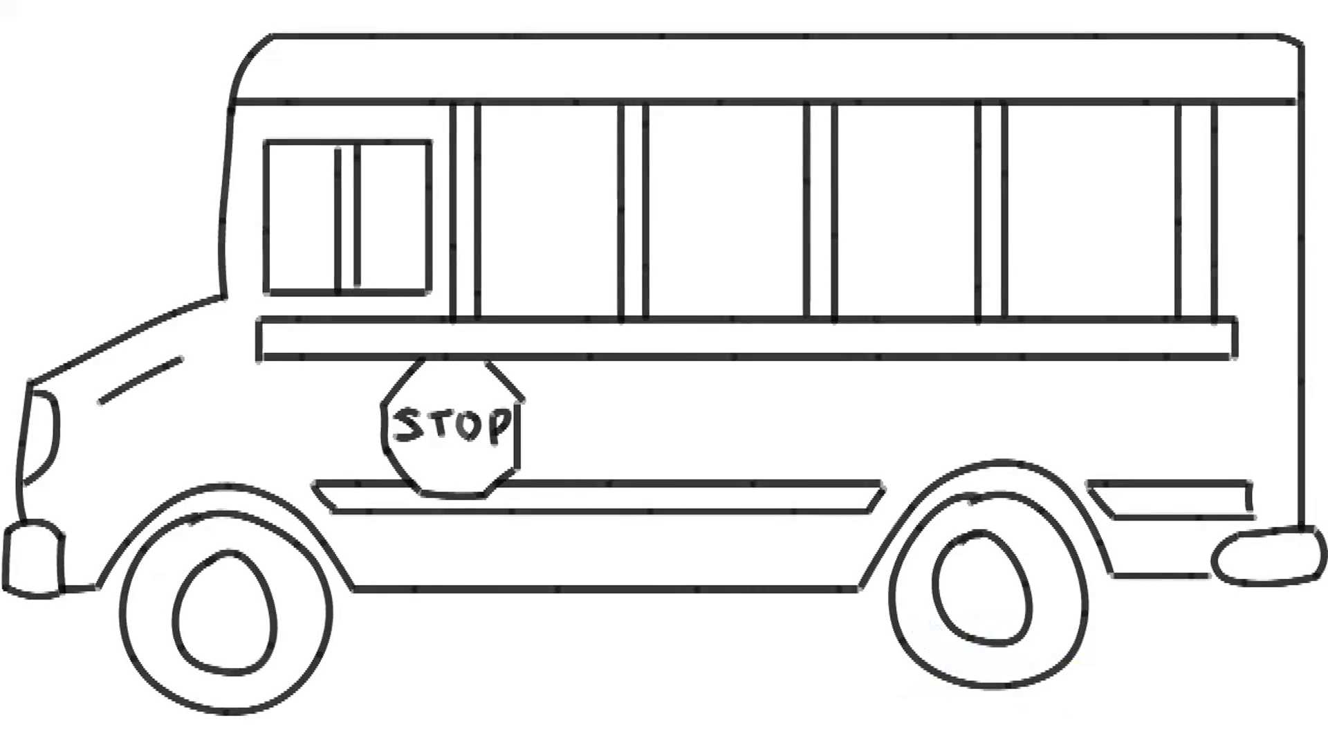van drawing man sketching bus van on whiteboard background animated van drawing