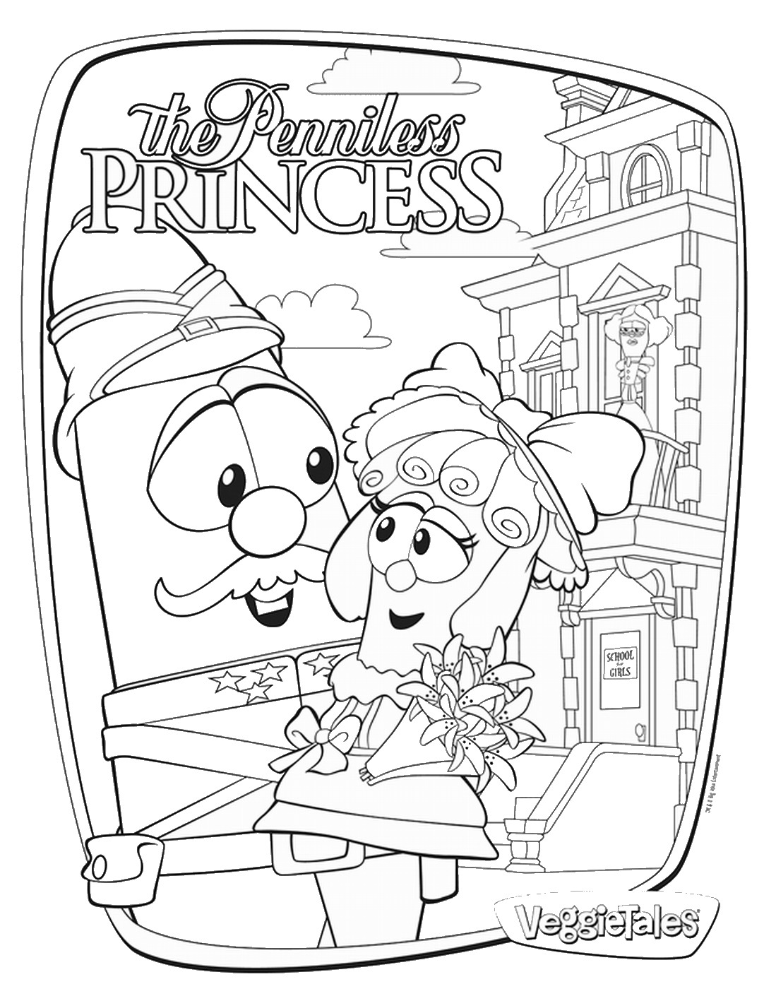 veggietales coloring pages sweetpea beauty veggie tales movie for girls giveaway veggietales pages coloring