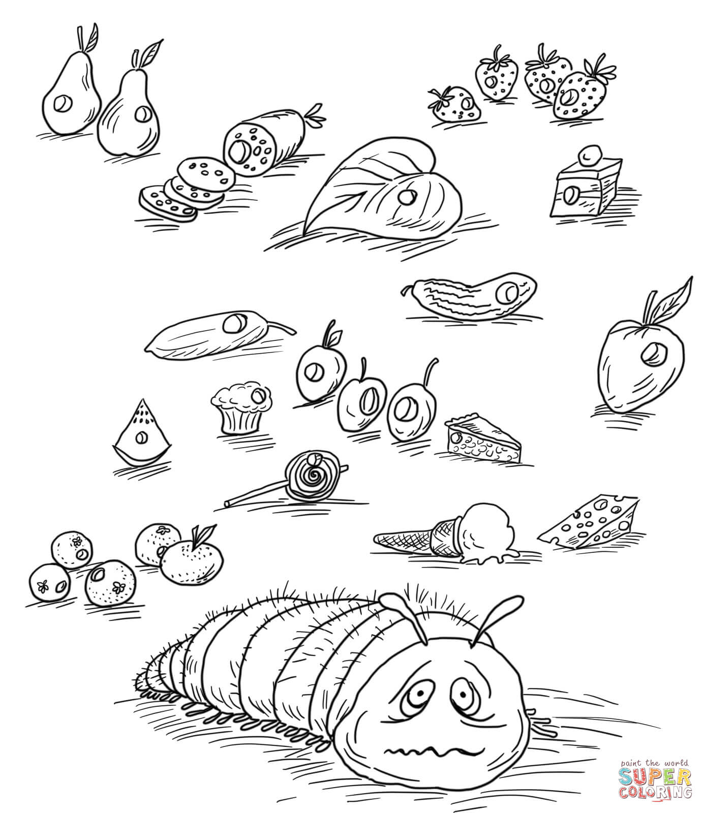very hungry caterpillar coloring very hungry caterpillar coloring pages coloring home caterpillar very coloring hungry