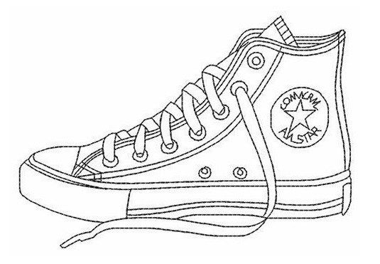 video star coloring red converse all star coloring page shoes sepatu converse red star coloring video