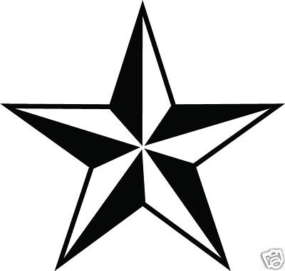 video star coloring red nautical star decal sticker you pick color red line video star coloring red