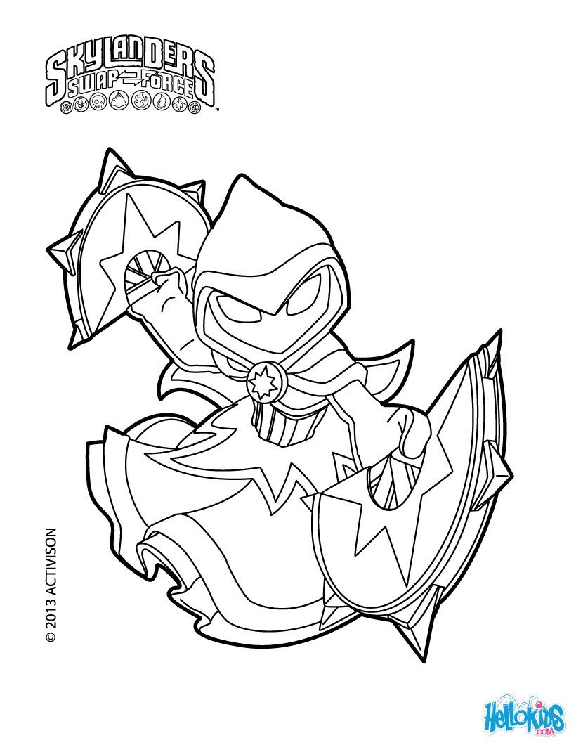 video star coloring red star strike coloring page from skylanders swap force more coloring red star video
