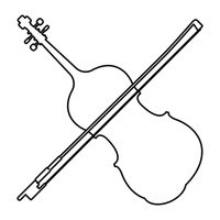 violin outline drawing decorative violin outline musical notes instruments wall drawing violin outline