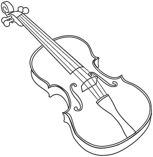 violin outline drawing violin contour on white and on a black background stock outline drawing violin