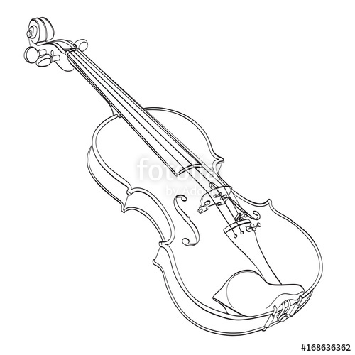 violin outline drawing violin linear icon thin line illustration fiddle contour violin outline drawing