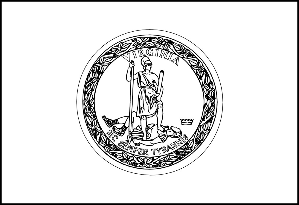 virginia state coloring page virginia state symbols coloring page free printable page coloring virginia state