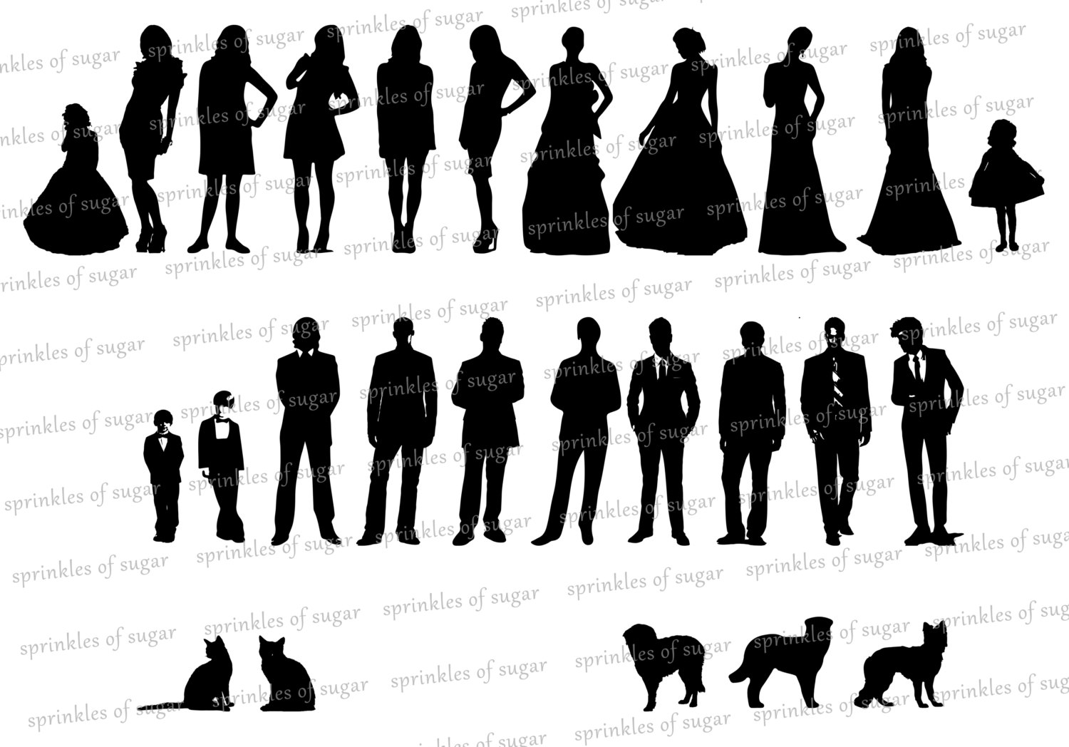 wedding party silhouette wedding party people silhouette clip art vector premium silhouette wedding party