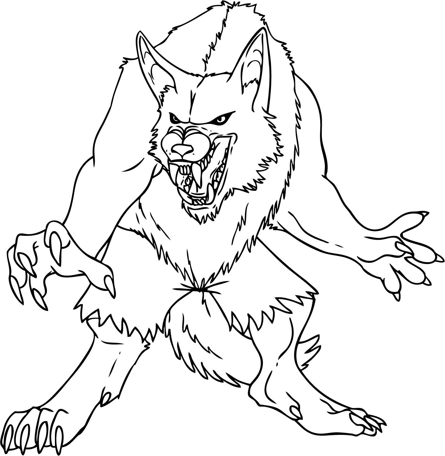 werewolf coloring pictures scary wolf drawing at getdrawings free download pictures coloring werewolf