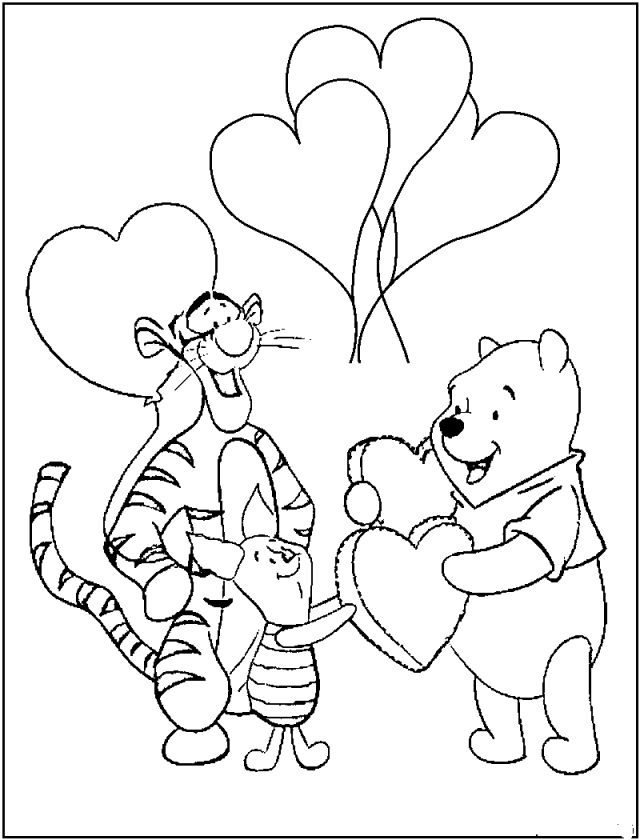 winnie the pooh pictures to color coloring pages winnie the pooh and friends free printable pooh pictures the color winnie to